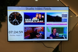 IDS displaying multiple video and camera feeds in a studio