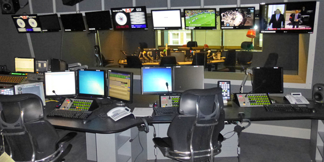 One of the new cubicles at BBC News