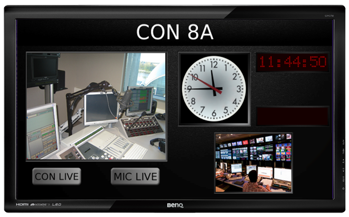 Continuity Announcer's Display