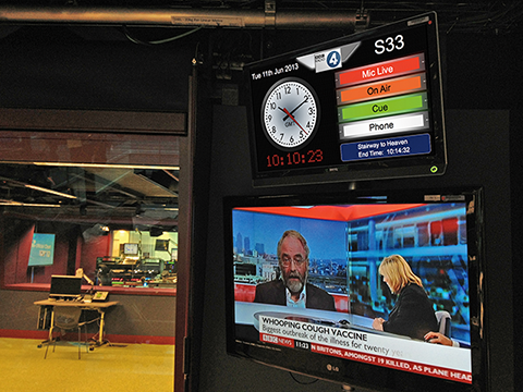 An IDS status display in the new Live Lounge.